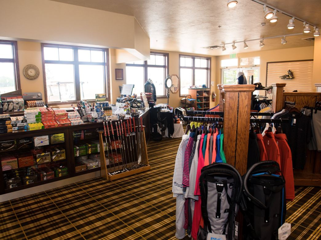 An interior shot of the pro shop at The Fox Hill Club