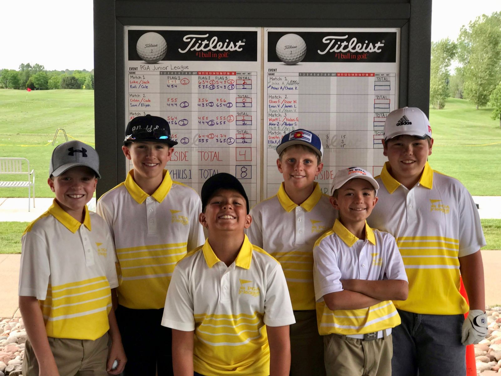 A PGA Junior Golf Team poses for a picture at The Fox Hill Club