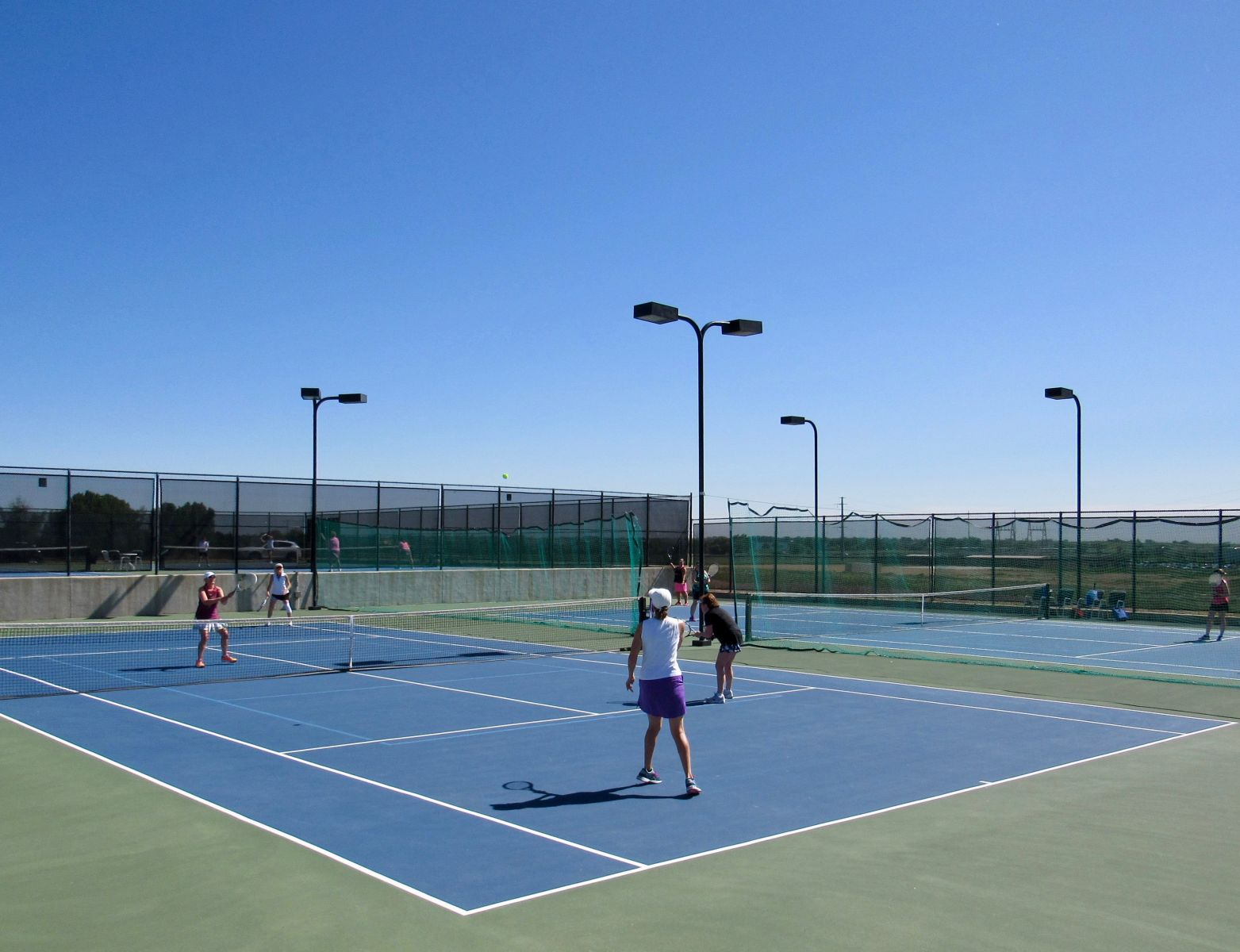 The tennis courts at The Fox Hill Club