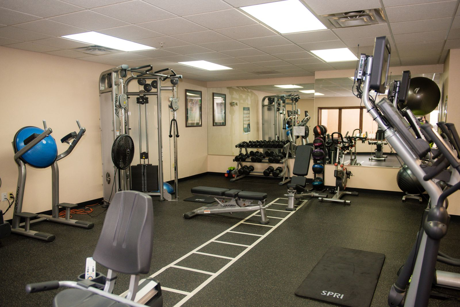 The workout room at The Fox Hill Club