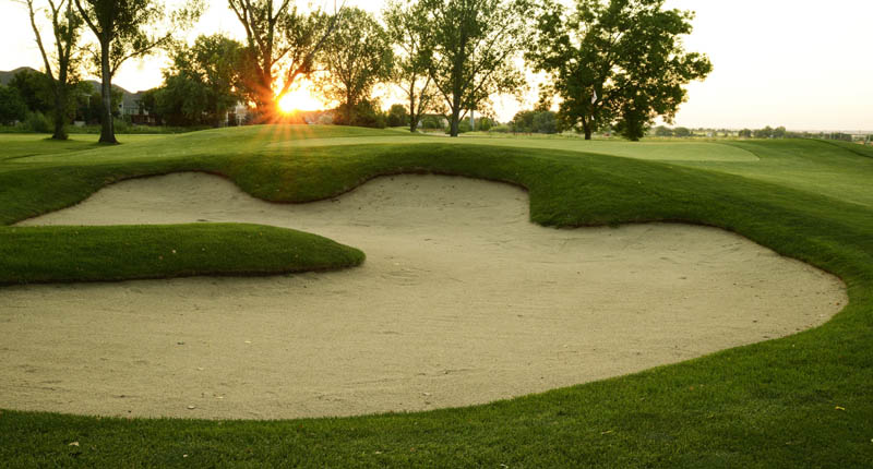 A sandtrap on the course at The Fox Hill Club