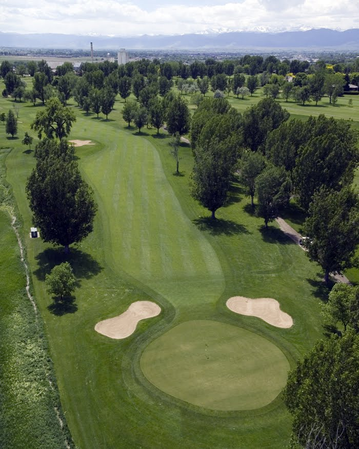 Aerial view of hole 10