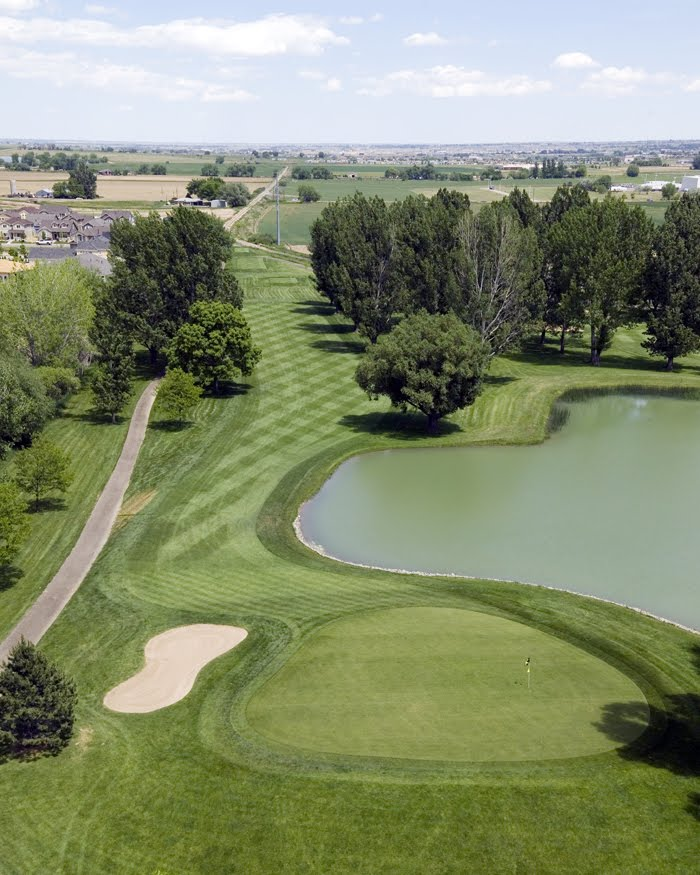 Aerial view of hole 12