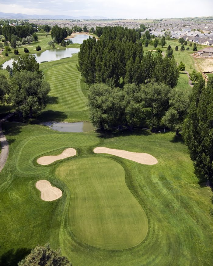 Aerial view of hole 16