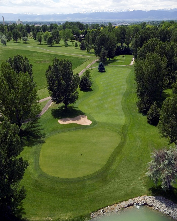 Aerial view of hole 1