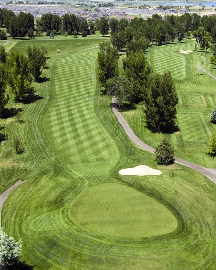 Aerial view of hole 18