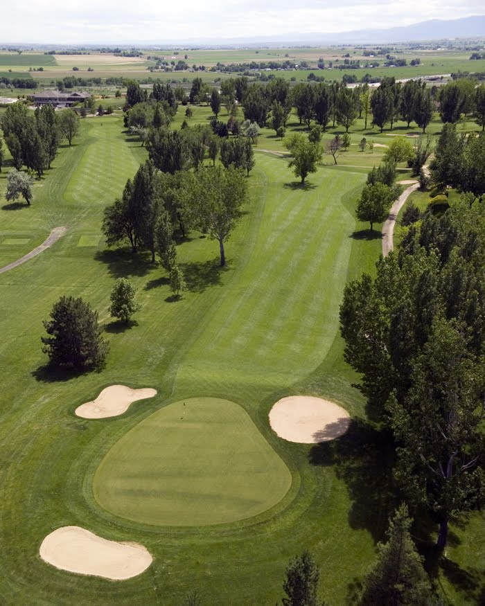 Aerial view of hole 3