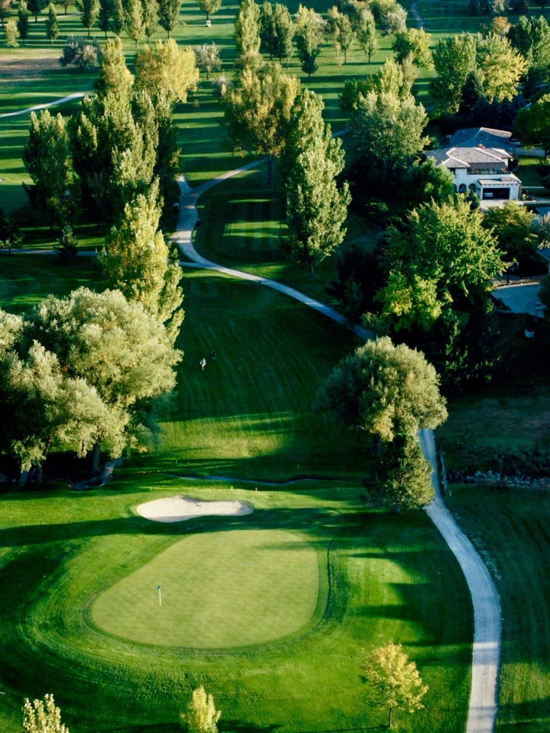 Aerial view of hole 4